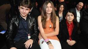 Michael Jackson's children, Prince, left, Paris and Blanket
