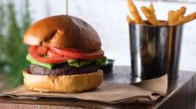 The triple blend burger is made with chuck,