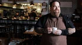 Chef Eric LeVine on Nov. 9 talked about