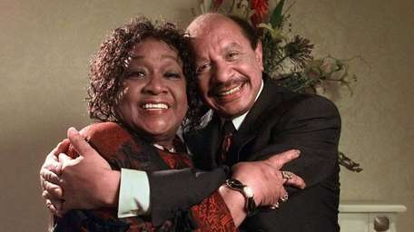 Isabel Sanford and Sherman Hemsley, who co-starred on
