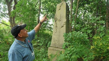 Town of North Hempstead historian Howard Kroplick points