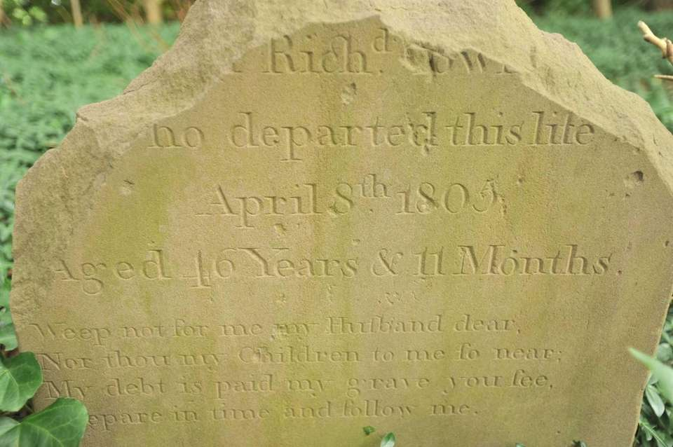 The headstone of Richard Townsend of the famous