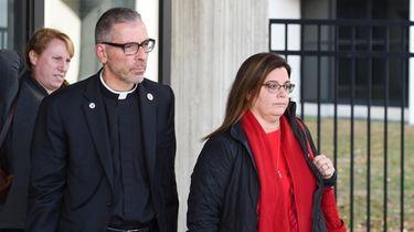 Alisa McMorris, mother of Andrew McMorris, leaves Suffolk