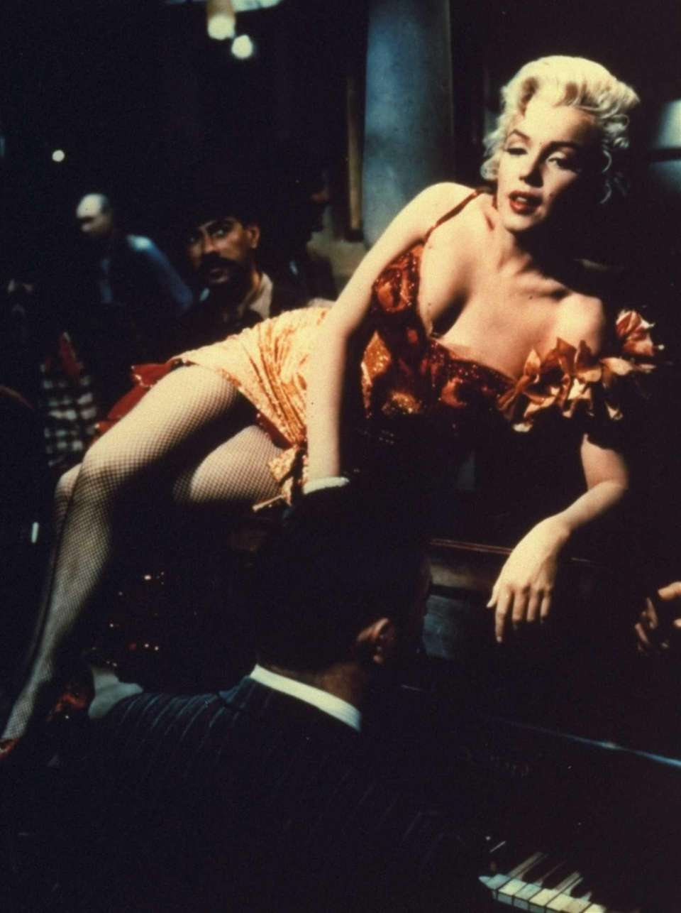 Marilyn Monroe plays a saloon entertainer in this