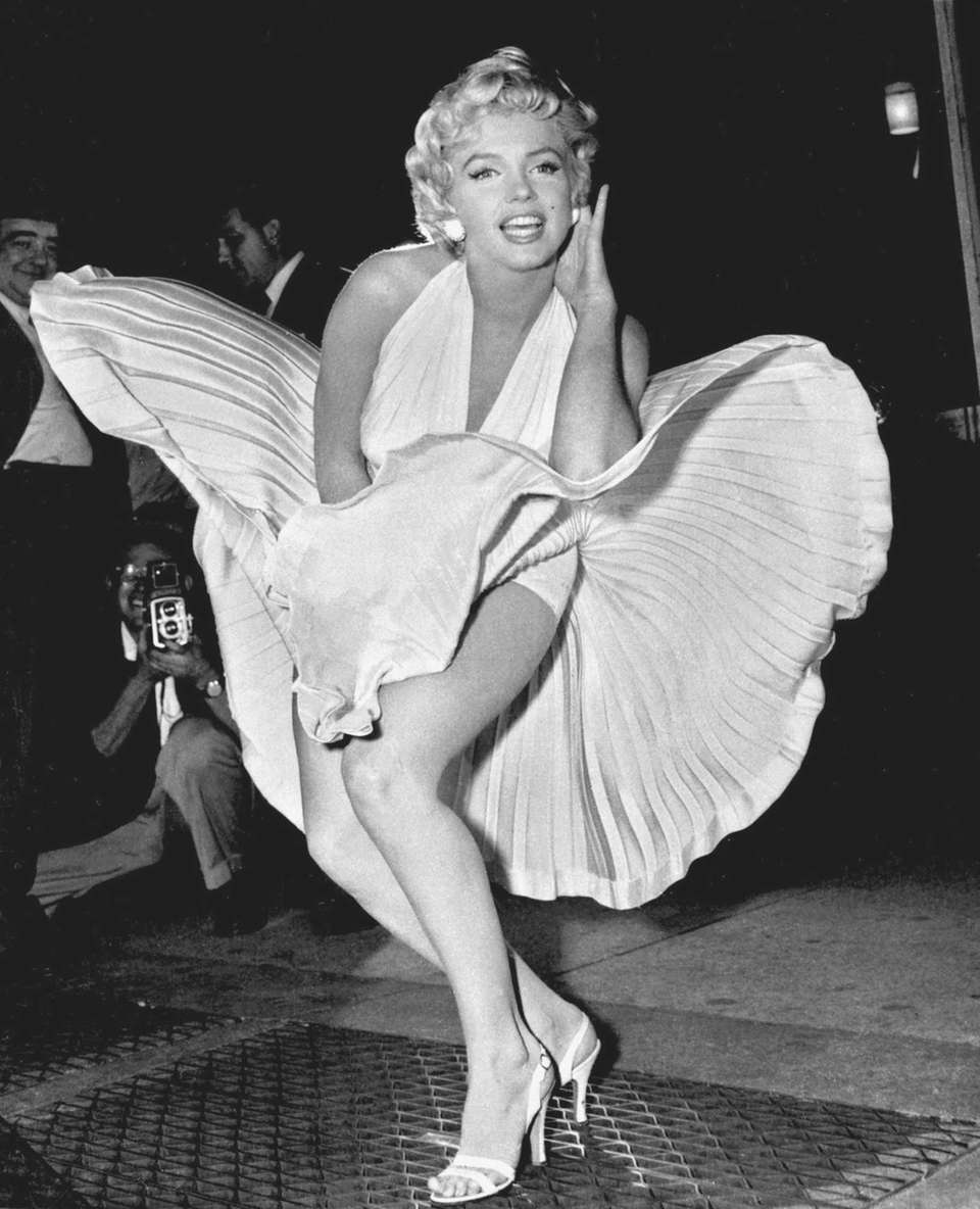 Marilyn Monroe poses over the updraft of New