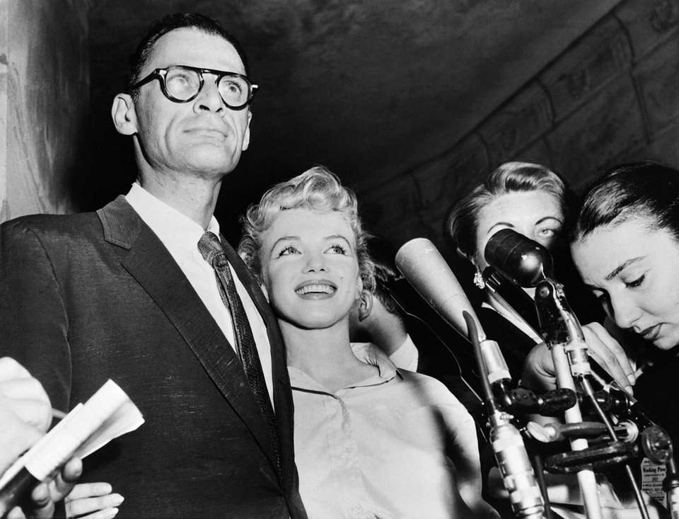 Actress Marilyn Monroe and her husband playwright Arthur