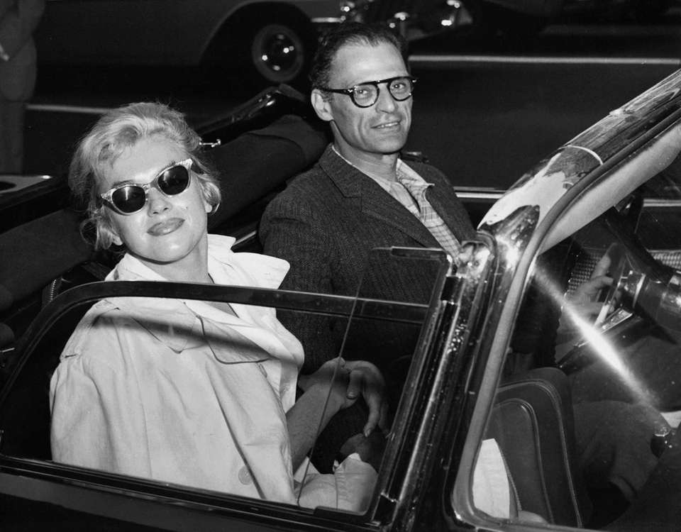 Playwright Arthur Miller and actress wife Marilyn Monroe