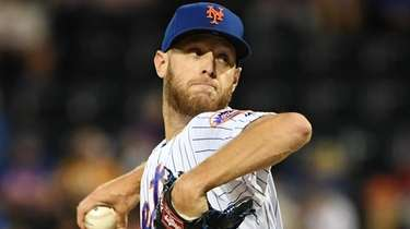 Mets starting pitcher Zack Wheeler delivers against the