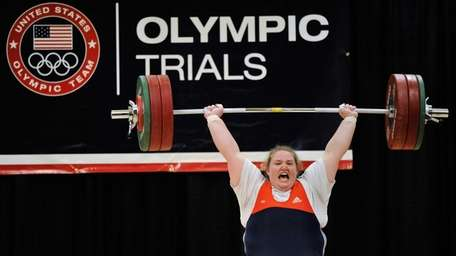 Holley Mangold competes during the 2012 U.S. Olympic