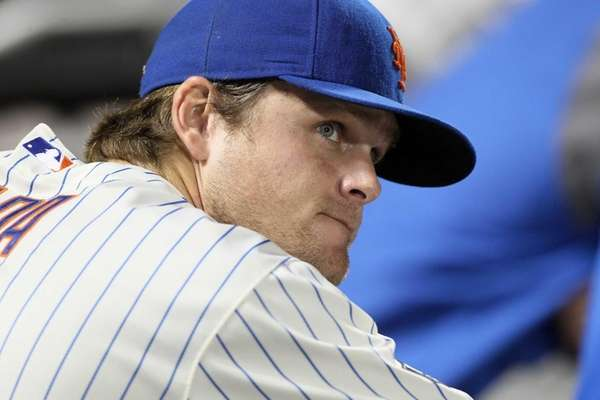 Lucas Duda of the New York Mets looks