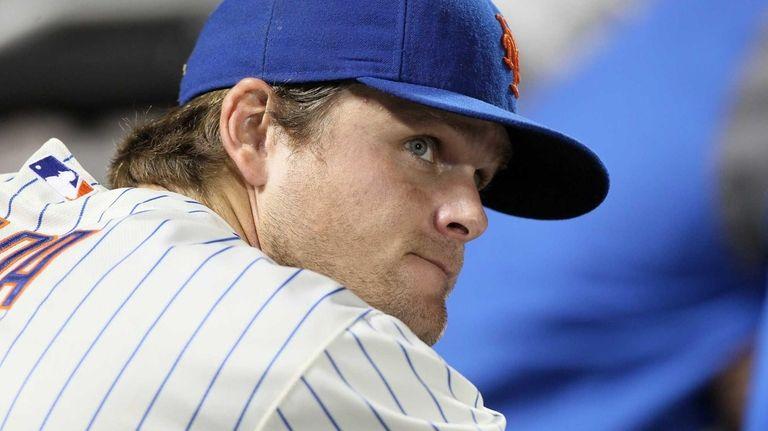 Lucas Duda of the New York Mets looks