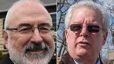 Russell Barnett, left, Smithtown's environment and waterways director,