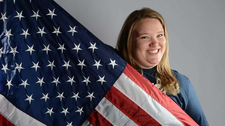 Holley Mangold of the US Olympic Weightlifting team