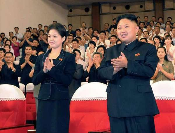 North Korean leader Kim Jong Un, right, and