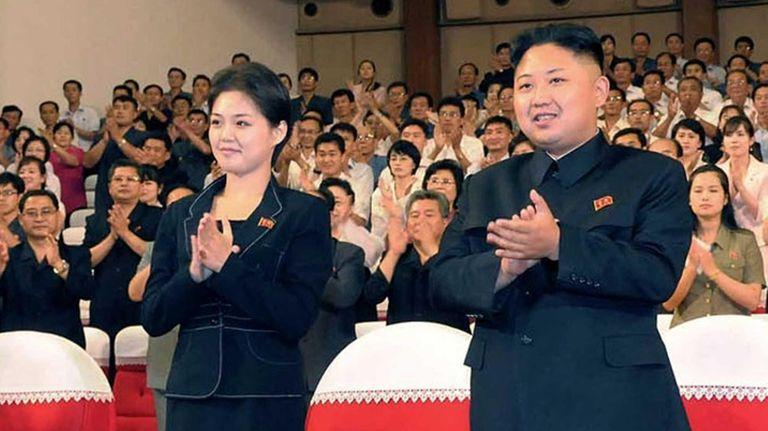 North Korean leader Kim Jong Un, right, and