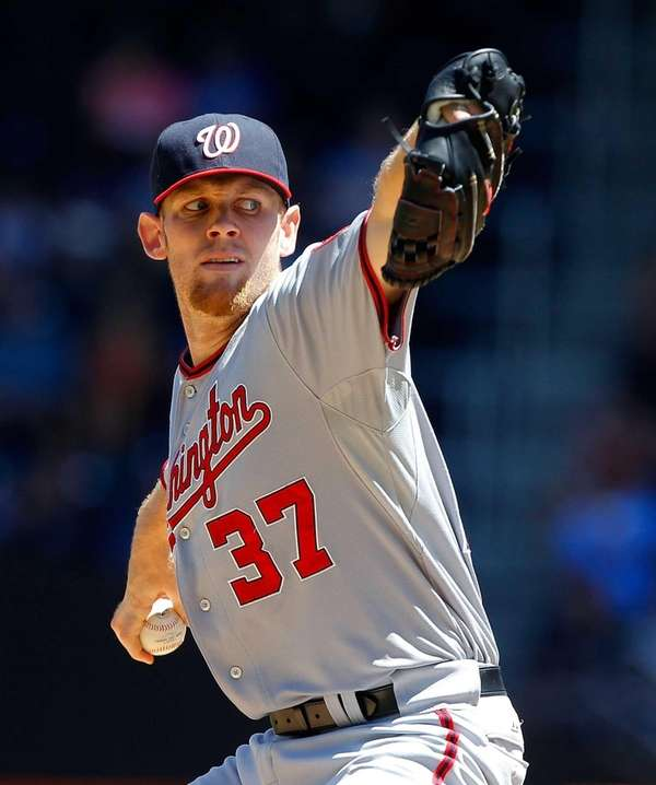 Stephen Strasburg of the Washington Nationals gave up