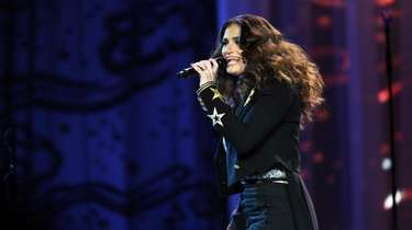 Idina Menzel on stage at NYCB Live's Nassau