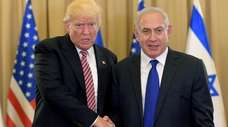 President Donald Trump meets with Israel Prime Minister