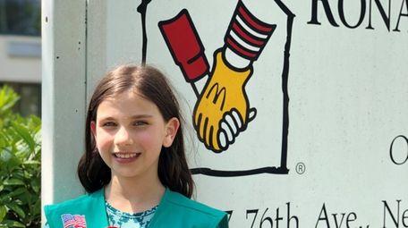 Kidsday reporter Isabella Mueller at the Ronald McDonald