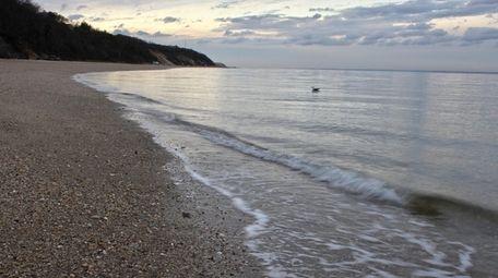 East Beach in Port Jefferson is shown on