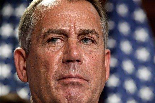 House Speaker John Boehner, (R-Ohio), talks to reporters
