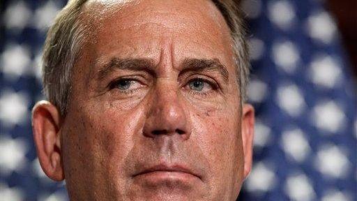 House Speaker John Boehner, (R-Ohio), talks to reporters