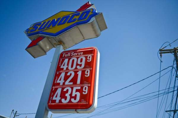 The Sunoco service station on Route 110 at