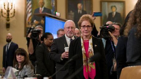 Former U.S. Ambassador to Ukraine Marie Yovanovitch returns