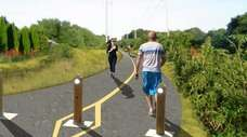 Rendering of the North Shore Rail Trail, a