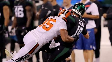 The Jets are familiar with Myles Garrett's aggessive