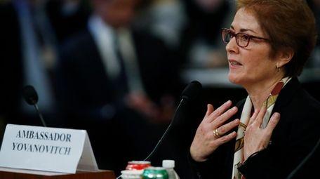Former Ambassador to Ukraine Marie Yovanovitch testifies before