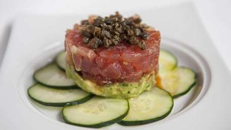 Timballo of tuna is served at Osteria Salina