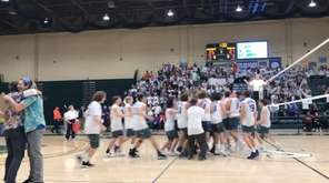 Long Beach celebrates after the team captured the
