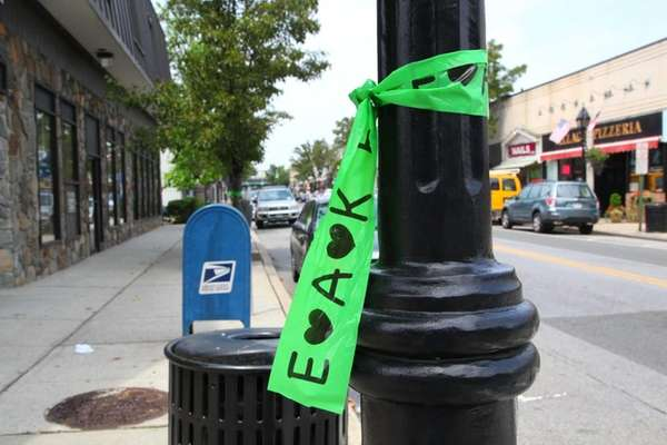 Ribbons hang throughout Floral Park to remember victims