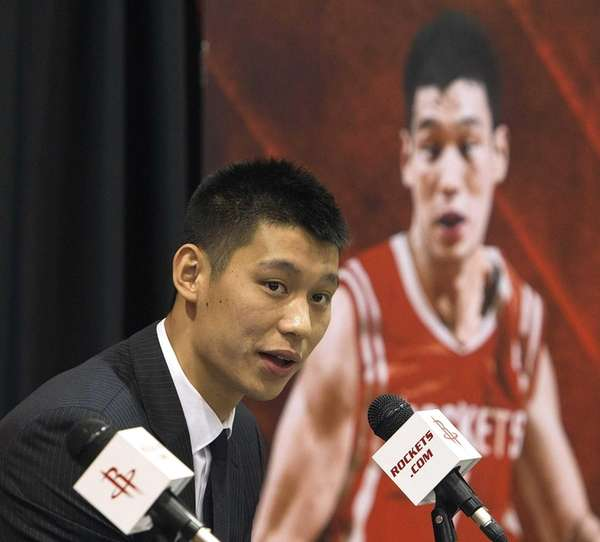 Jeremy Lin of the Houston Rockets speaks to