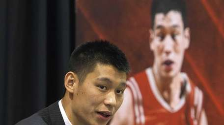 Jeremy Lin of the Houston Rockets speaks to
