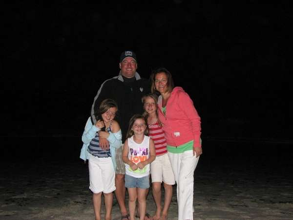 Warren and Jackie Hance and their children, left