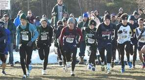 Section 11 runners run in the NYSPHSAA Championship