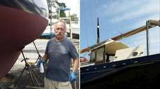 Peter Farrell and his 28-foot sloop Blue Dog.