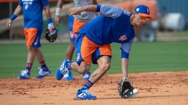 Mets player Andres Gimenez during a spring training