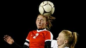Shoreham-Wading River's Ashley Borriello battles Jamesville-DeWitt's #2 Sydney