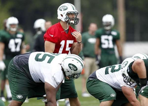 Tim Tebow during the Jets' first training camp