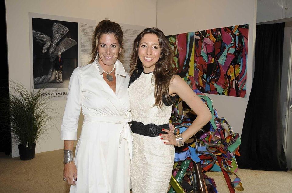(l-r) Pamela Cohen and Alexandra Fairweather attend Art