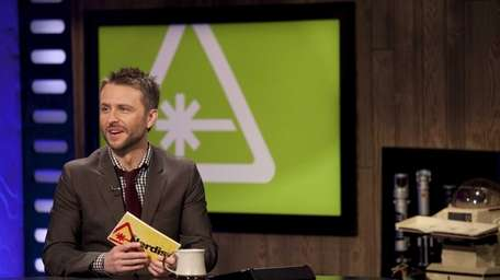 The Nerdist host Chris Hardwick on set during