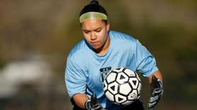 Babylon goalie Emma Ward warms up before the