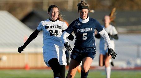 Babylon's #24 Brooke Gengler and CVA #5 Kayla