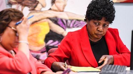 Wyandanch Superintendent of Schools Dr. Mary Jones attends