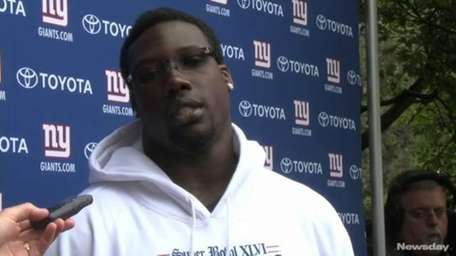 Before the first practice of the season, Giants