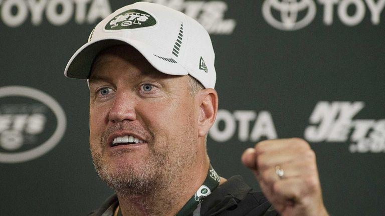 Jets head coach Rex Ryan during a press
