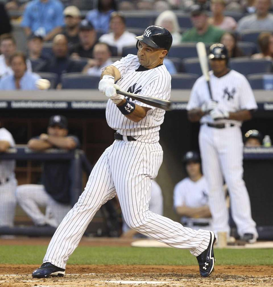 Raul Ibanez hits a two-run home run during